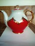 Огромный чайник в позолоте. Клеймо (бутон)., фото №2