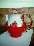 Огромный чайник в позолоте. Клеймо (бутон)., фото №3