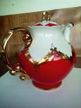 Огромный чайник в позолоте. Клеймо (бутон)., фото №4