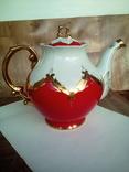 Огромный чайник в позолоте. Клеймо (бутон)., фото №5