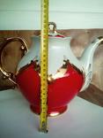 Огромный чайник в позолоте. Клеймо (бутон)., фото №6