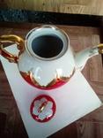 Огромный чайник в позолоте. Клеймо (бутон)., фото №7