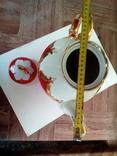 Огромный чайник в позолоте. Клеймо (бутон)., фото №9