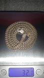 Цепочка серебро, 925 проба 32 гр., фото №7