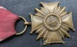 Крест за За слуги 3 ст. PRL Польша, фото №4