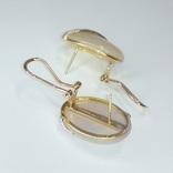 Винтажные золотые серьги с натуральным перламутром и бриллиантами, фото №10