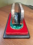 Визитница настольная, малахит, серебро, горячие эмали, фото №4
