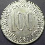 100 динарів Югославія 1987, фото №2