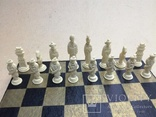 Шахматы старинные с фигурками из кости. Футляр., фото №8