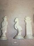 Шахматы старинные с фигурками из кости. Футляр., фото №9