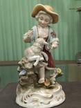 Девочка с ягненком коллекционная статуэтка фарфор клеймо, фото №3