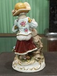 Девочка с ягненком коллекционная статуэтка фарфор клеймо, фото №6