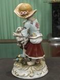 Девочка с ягненком коллекционная статуэтка фарфор клеймо, фото №7