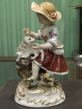 Девочка с ягненком коллекционная статуэтка фарфор клеймо, фото №8