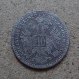10  крейцеров 1870 Австро-Венгрия  серебро   (П.4.33)~, фото №2