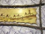 Картина (техника масло на коже) 60 x 30см, Африка, фото №4