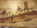 Картина (техника масло на коже) 60 x 30см, Африка, фото №5