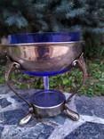 Ваза конфетница изящная металл стекло, фото №4