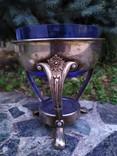 Ваза конфетница изящная металл стекло, фото №6