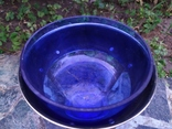 Ваза конфетница изящная металл стекло, фото №7