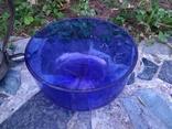 Ваза конфетница изящная металл стекло, фото №10