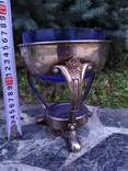 Ваза конфетница изящная металл стекло, фото №12