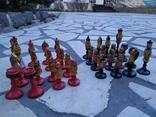 Шахматы набор росписные яркие новые, фото №3