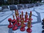 Шахматы набор росписные яркие новые, фото №4