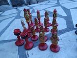 Шахматы набор росписные яркие новые, фото №6