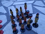 Шахматы набор росписные яркие новые, фото №7