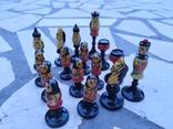 Шахматы набор росписные яркие новые, фото №9