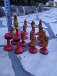 Шахматы набор росписные яркие новые, фото №10