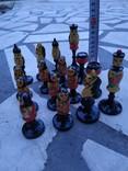 Шахматы набор росписные яркие новые, фото №11