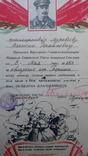 Комплект грамот, подяк та довідок на учасника штурму Рейхстагу., фото №8