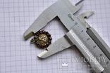 Старинный кулончик- Ангелок с чешскими гранатами, фото №12