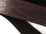 Портупея, офицерский ремень коричневый, двойная кожа, фото №8