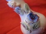 Вазочка - бутоньерка - Голубая роза., фото №4