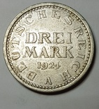 Drei Mark 1924, фото №2