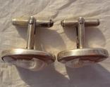 Запонки с камеями, серебро., фото №9