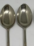 Набор 6 ложек Джона Генри Поттера  маркировкой ARARA Silver Potter`s.11см 1900-1940, фото №4