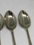 Набор 6 ложек Джона Генри Поттера  маркировкой ARARA Silver Potter`s.11см 1900-1940, фото №6