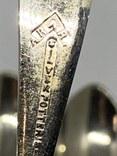 Набор 6 ложек Джона Генри Поттера  маркировкой ARARA Silver Potter`s.11см 1900-1940, фото №8