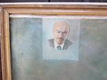 Картина соцреализм Брежнев в кабинете Редкая!!!, фото №6