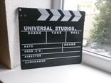 Кинохлопушка. Хлопушка для кино Universal  Studio. 30хз27см, фото №2
