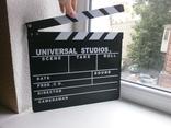 Кинохлопушка. Хлопушка для кино Universal  Studio. 30хз27см, фото №3