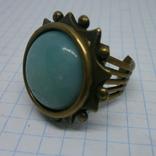 Фирменное кольцо с камнем Jan Michaels San Francisco. Камень натуральный, фото №2