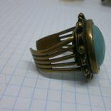Фирменное кольцо с камнем Jan Michaels San Francisco. Камень натуральный, фото №4