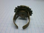 Фирменное кольцо с камнем Jan Michaels San Francisco. Камень натуральный, фото №5