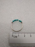 Кольцо серебро 925 бирюза, фото №2