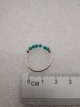 Кольцо серебро 925 бирюза, фото №3